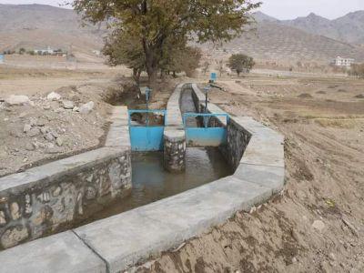 په کابل کې ۵.۳ میلیونه افغانیو په ارزښت یو زراعتي کانال ګټې اخیستنې ته وسپارل شو