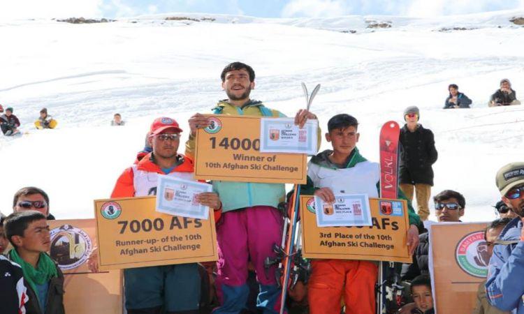 دهمین دور مسابقات بینالمللی اسکی افغان در بامیان خاتمه یافت